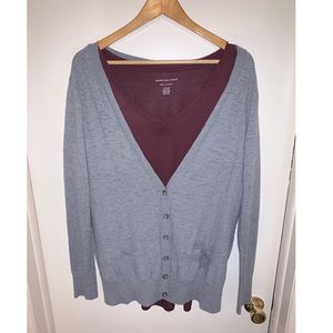Mossimo Gray Button Cardigan s Xxl!